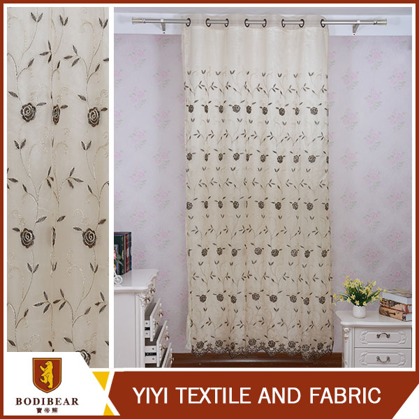 China Direct Supplier Asian Kitchen design medical curtain fabric with embroidery