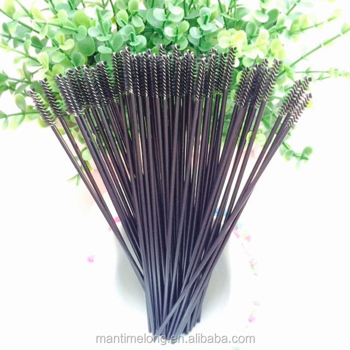 17.3cm Black brush handle black hair straw hummingbird feeders straw brush cleaning brush other species