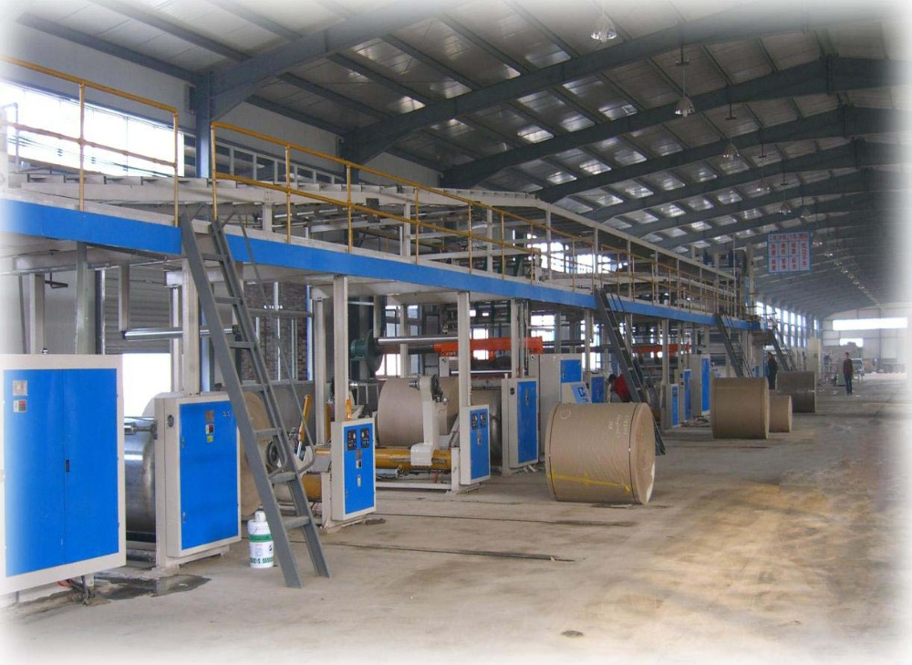 WJ80-2050 3 layer corrugated cardboard production line machine