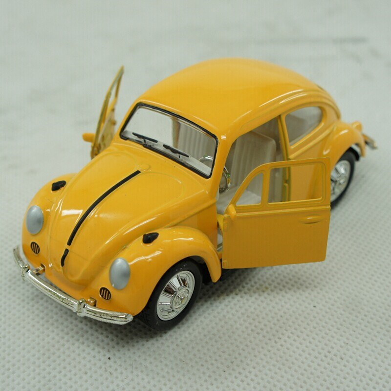 Mini Metal Model Car Toys for Collection VW Beetle Pull Back Diecast Wecker Car Toy