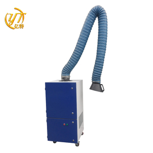 Single arm arc welding smog extractor and industrial welding fume dust collector for