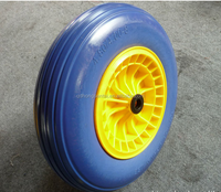 flat free pu foam wheel for wheel barrow and hand trolley