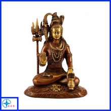 Antique metal sitting hindu God Shiva statues for sale