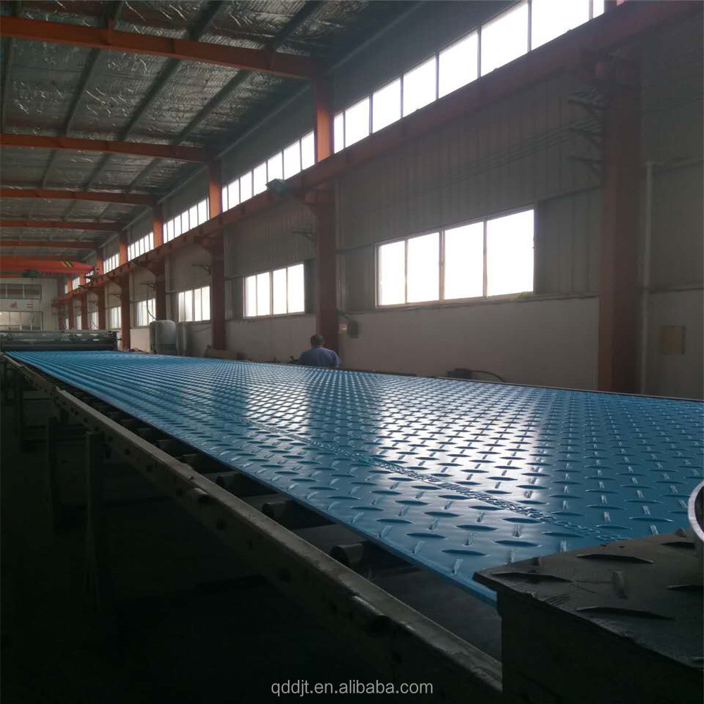 Anti-impact blue HDPE gound mats/UHMWPE Road mats/plastic ground cover sheet