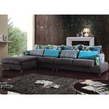 2015 latest fabric sofa/popular corner sofa furniture