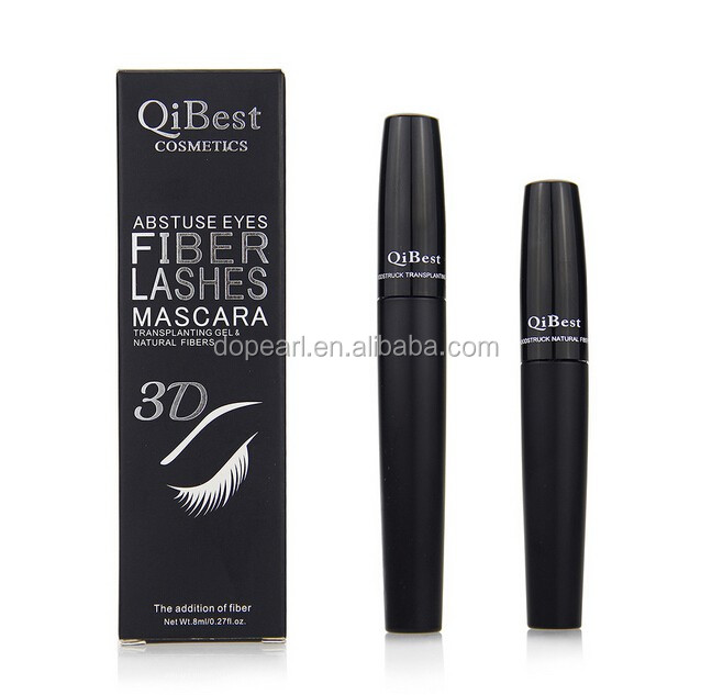 Private label black mascara set 3D Fiber lash Mascara