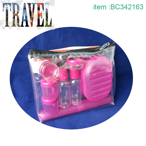 Free sample promotional best travel toiletry bottles
