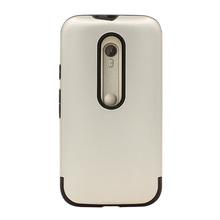 china guangzhou factory fancy design sliver color hybrid armor phone cases for motorola moto g3