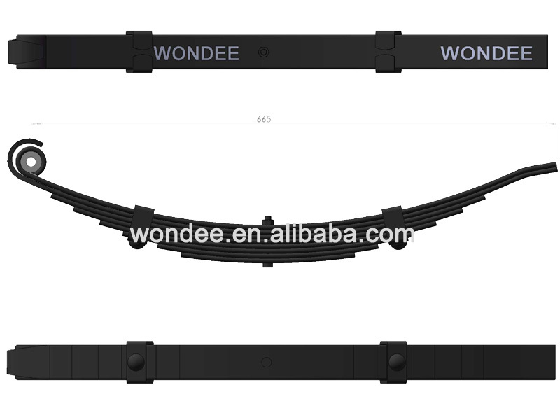 WONDEE High Quality 694mm Length Steel Leaf Spring for Bus