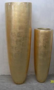 2014 Sj Fp091 Wholesale Gold Artificial Flower Pot Tall