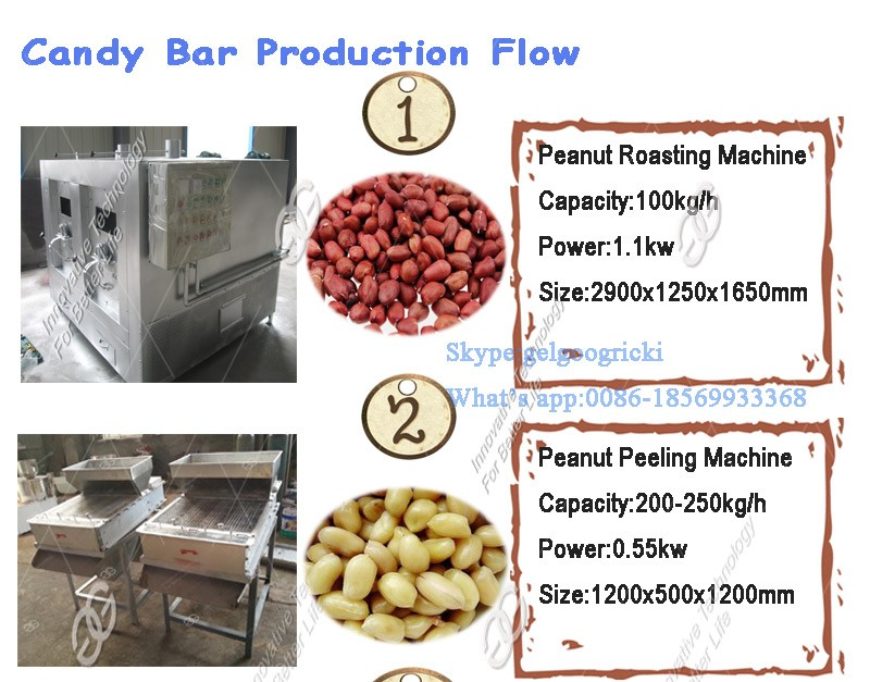 Hot Sale Factory Price Granola Cereal Candy Production Line Peanut Brittle Cutting Sesame Seeds Snap Bar Making Machine