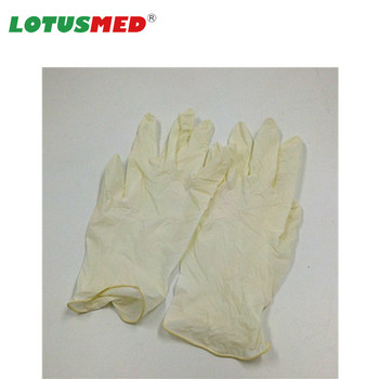 Powdered Examination Latex Gloves Medical In Good Quality
