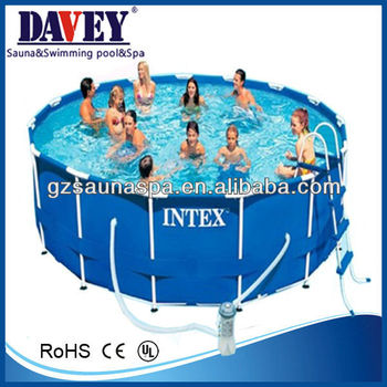 Above ground intex swimming pool buy intex swimming Intex swim center family pool cover