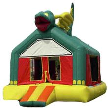 high quality Cheap Green Dragon inflatable bouncer/ jumper for party