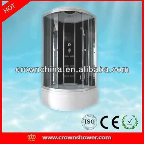 Modern glass round shower enclosure,bathroom Shower bathroom over the toilet space saver