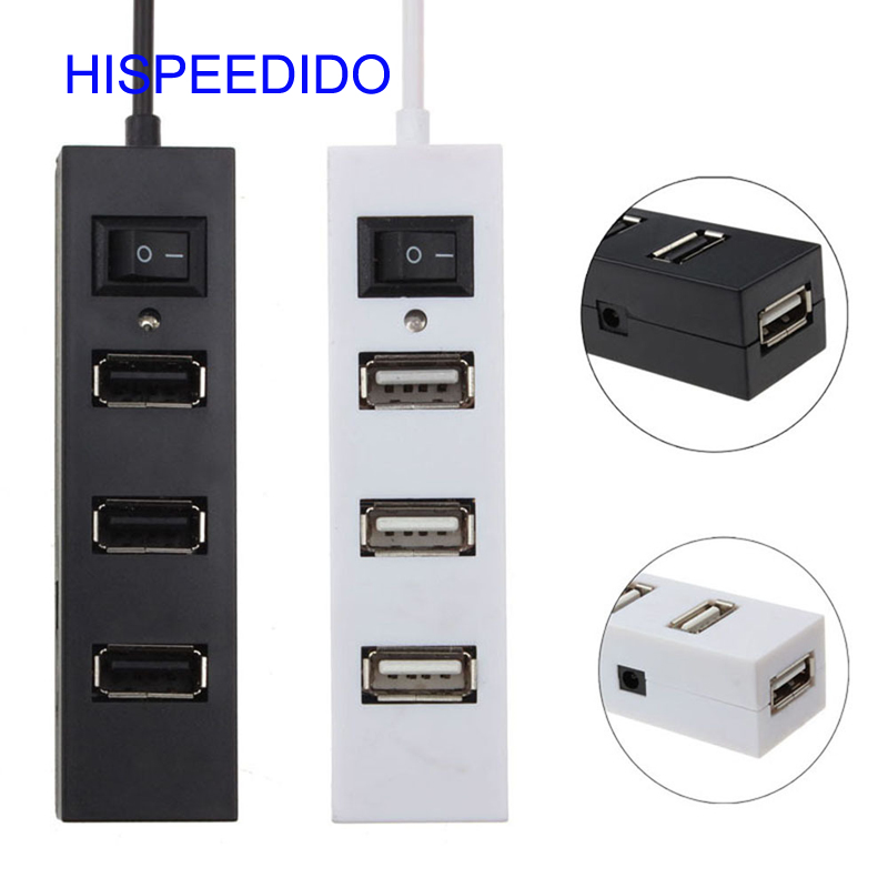 Cheap price 4 Port Usb 2.0 Hub High-speed Date Transfer Ports Splitter with on/off switch