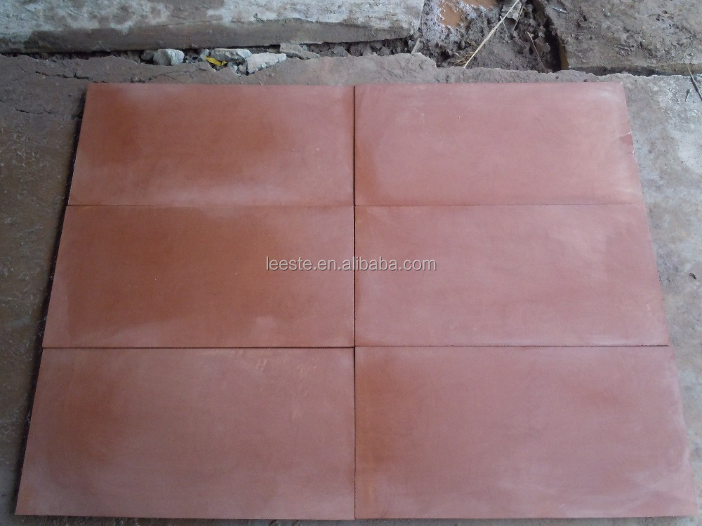 Red sandstone blocks