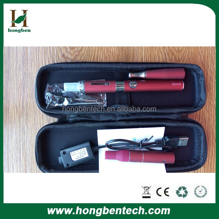 2015 Hot Sale portable e cig evod Mt3 atomizer dry herb vaporizer wax oil E cigarette 3 in 1 Vaporizer Wholesale