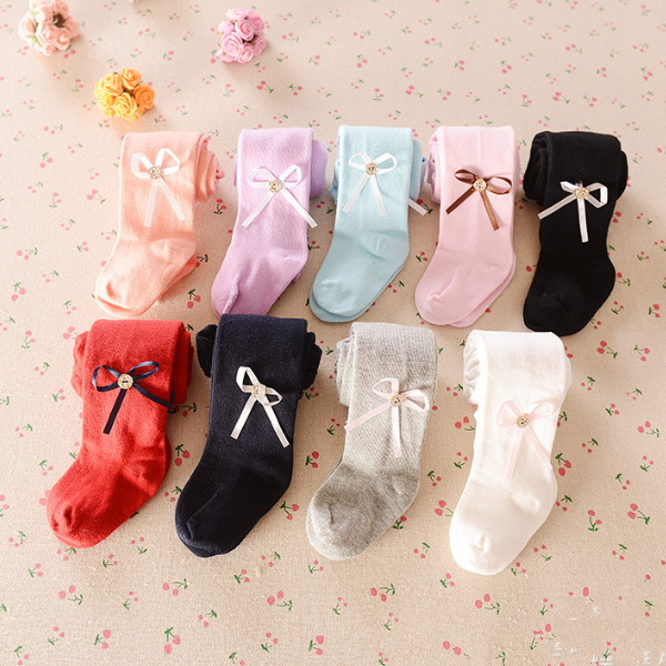 MS61040K baby girls cute bow fashion 2016 socks toddler leggings wholesale