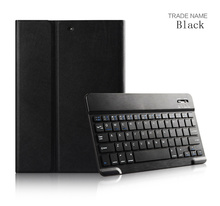Super slim bluetooth keyboard leather case for ipad air1/air2 with sleeping function