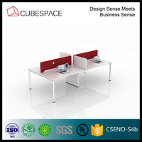 modern office desk 4-person office workstation, USA standard furnture