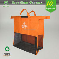 Custom portable wholesale design your own foldable trolley shopping bags wholesale