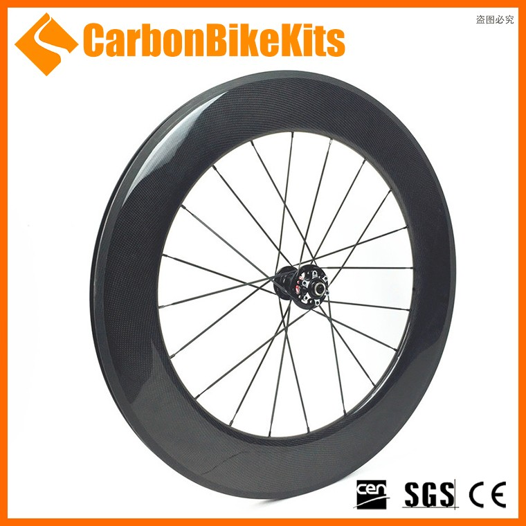 CarbonBikeKis 700C 88mm Clincher Road Bicycle carbon dis brake wheels