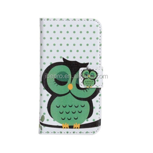 Factory Price Sleeping Owl Flip Leather Wallet Case for Samsung Galaxy S3 i9300 Galaxy S3 Neo i9301