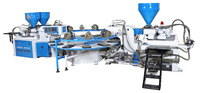 TWO Head Three Color PVC,TPR,TPU sole injection machine with servo motor