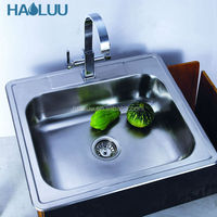 HL61105 above counter single bowl sink for kitchen