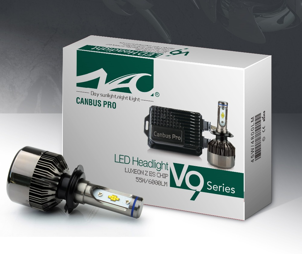 V9 series car led headlight Luxeon Z ES chip with canbus pro led headlight bulbs