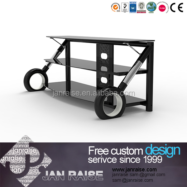 Tempered glass modern outdoor tv stand design