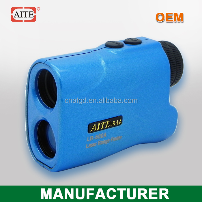 6*24 600Meters Blue Hand-held laser range finder with slope measure function height measuring tool