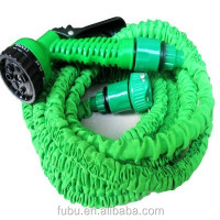 Fixture Displays Expandable Flexible Garden Water Hose Nozzle Pipe with Spray Gun 50 Ft Green 16529