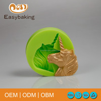 Unicorn silicone mold cake cupcake topper DIY silicone decoration mold bakeware