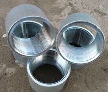 Pre galvanized pipe with thread & clamp /Galvanized steel pipe/Q235 pipe with threading
