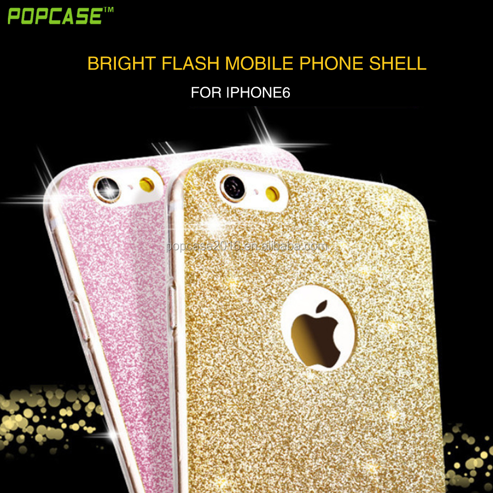 Factory price beautiful colorful shimmering powder TPU case for Iphone6