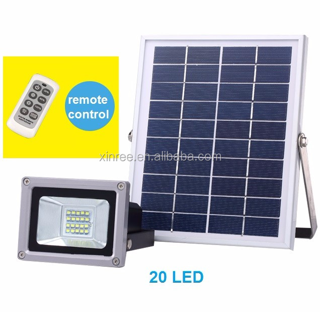 super bright solar garden lamp led lawn flood light Xinree SL-380A 10W with remote control