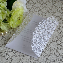 Floral Laser Cut Wedding Invitations Philippines with Envelope