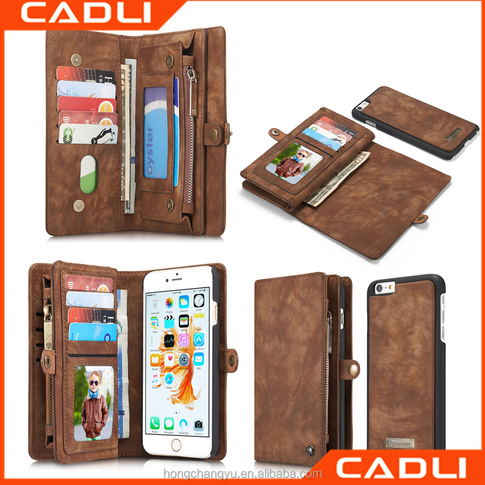 Retro folded wallet leather universal flip phone case cover for iPhone 6 iphone 6plus