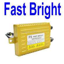 Factory direct slim f5 fast bright hid ballast 55w