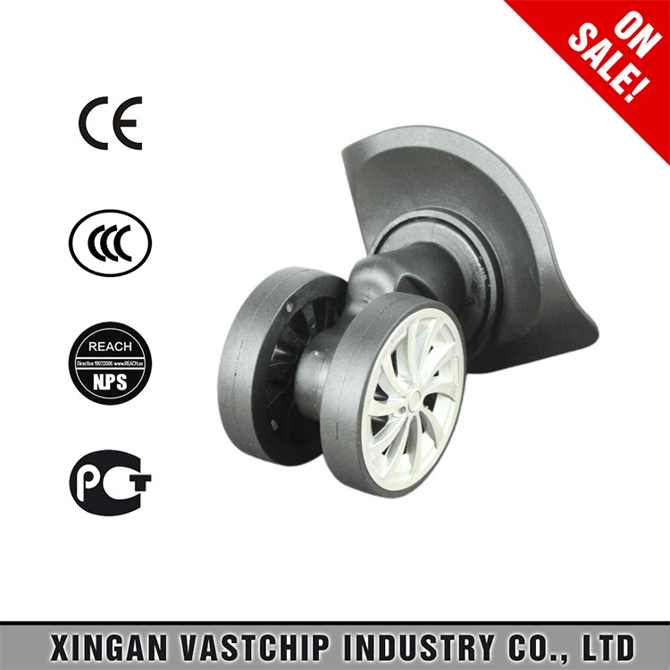 double row rubber luggage wheel parts for travel luggage
