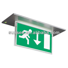 Acrylic led emergency exit 1x8w, acrylic sign for 110v/220v, LEDSIGN-0039