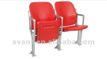 indoor public fire-resistant tip-up folding chair for arena,gym,theater,school,church use