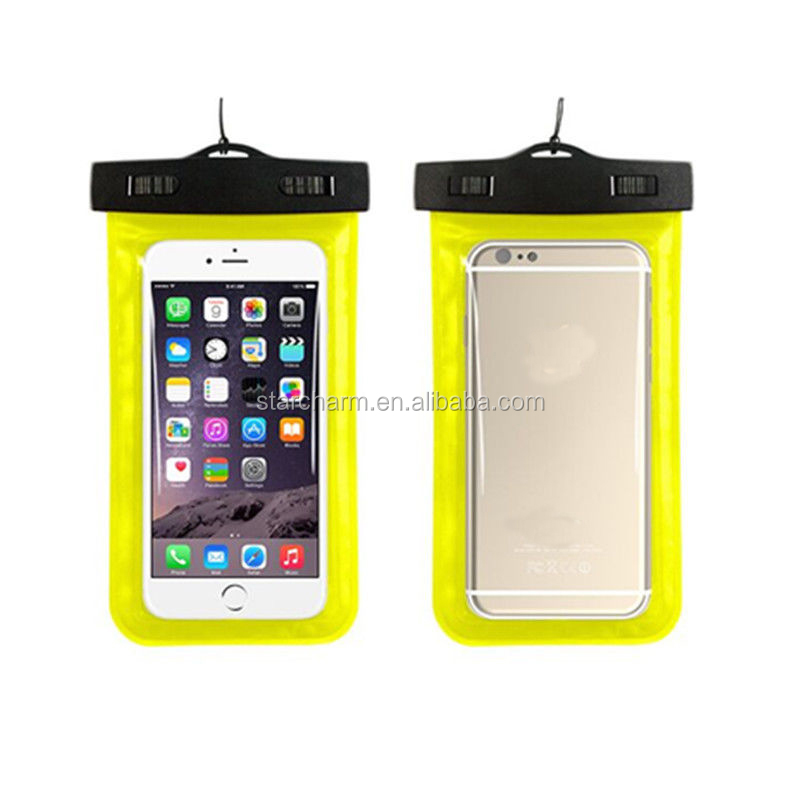 Transparent Touch Screen Design Mobile Phone Waterproof Bag