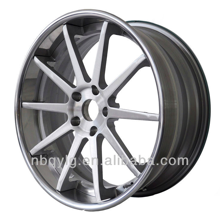 Ten Spoke 3 Piece Forged Car Wheel