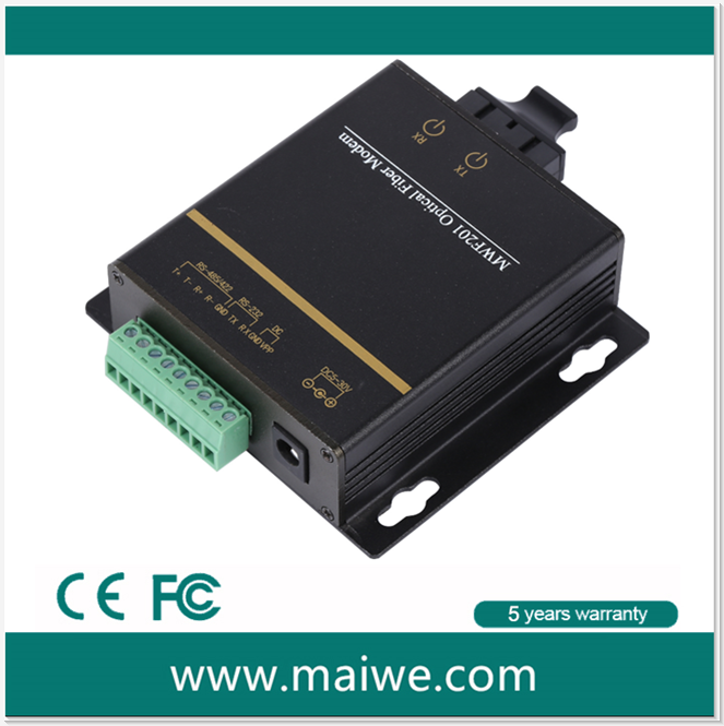 Wall Mountable rs232 rs422 rs485 to fiber optic converter