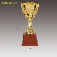 red plastic base metal cup trophy
