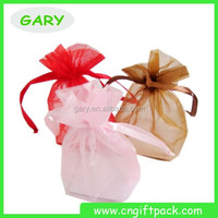 Decoration Gold Organza Pouch