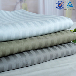 100% cotton 250TC and 300TC bedding striped fabric